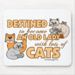Future Crazy Cat Lady Funny Saying Design Mouse Mat