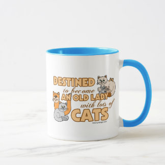Future Crazy Cat Lady Funny Saying Design Mug