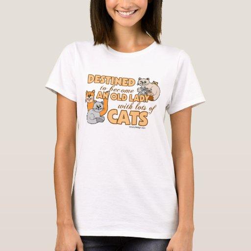 Future Crazy Cat Lady Funny Saying Design T-Shirt