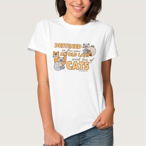 Future Crazy Cat Lady Funny Saying Design Tshirts