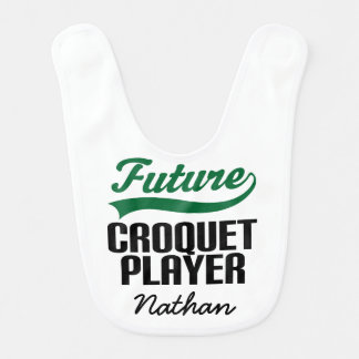 Future Croquet Player Personalized Baby Bib
