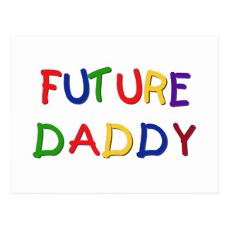 Future Daddy Primary Colors T-shirts and Gifts Postcard