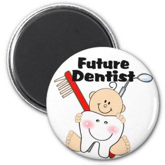 Future Dentist 6 Cm Round Magnet