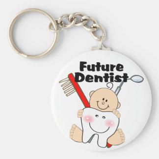 Future Dentist Basic Round Button Key Ring