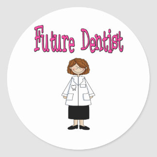 Future Dentist Classic Round Sticker