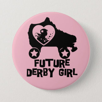 Future Derby Girl, Roller Skating design for Kids 7.5 Cm Round Badge