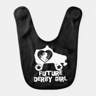 Future Derby Girl, Roller Skating design for Kids Bib