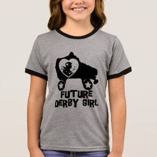 Future Derby Girl, Roller Skating design for Kids Ringer T-Shirt