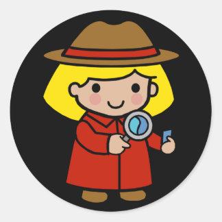 Future Detective / Forensic Scientist / P.I. Classic Round Sticker