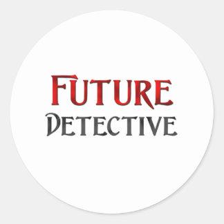 Future Detective Round Stickers