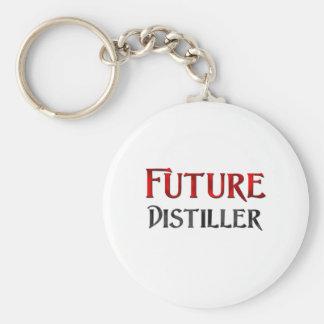 Future Distiller Basic Round Button Key Ring