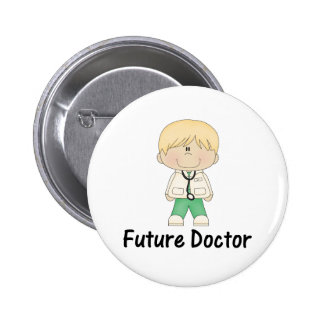 future doctor (boy) 6 cm round badge