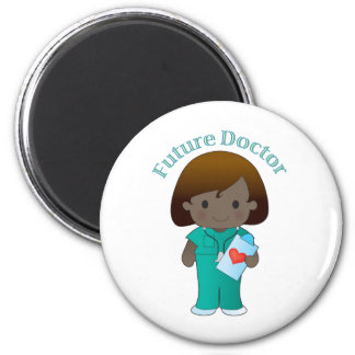 Future Doctor  Girl 6 Cm Round Magnet