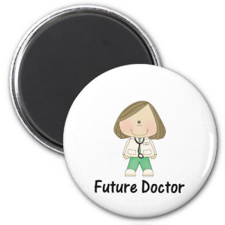future doctor (girl) 6 cm round magnet