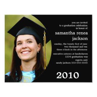 Future Dreamer Graduation Invitation (Black)