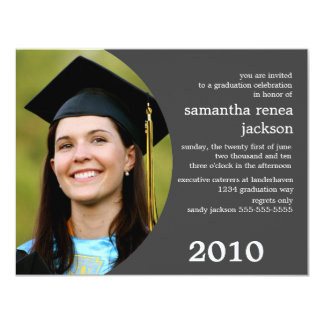 Future Dreamer Graduation Invitation (Gray)