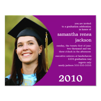 Future Dreamer Graduation Invitation (Purple)