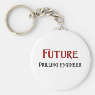 Future Drilling Engineer Basic Round Button Key Ring