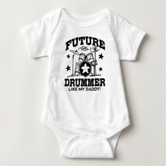 Future Drummer Like My Daddy Baby Bodysuit
