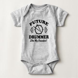 Future Drummer Like My Grandpa Baby Bodysuit