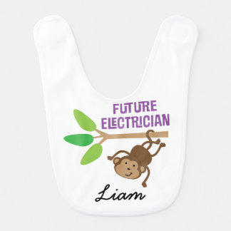 Future Electrician Personalized Baby Bib