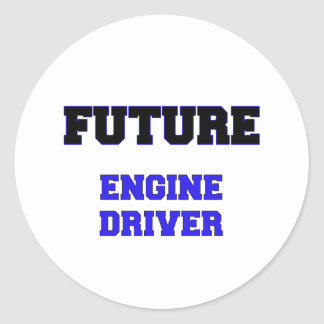 Future Engine Driver Round Stickers