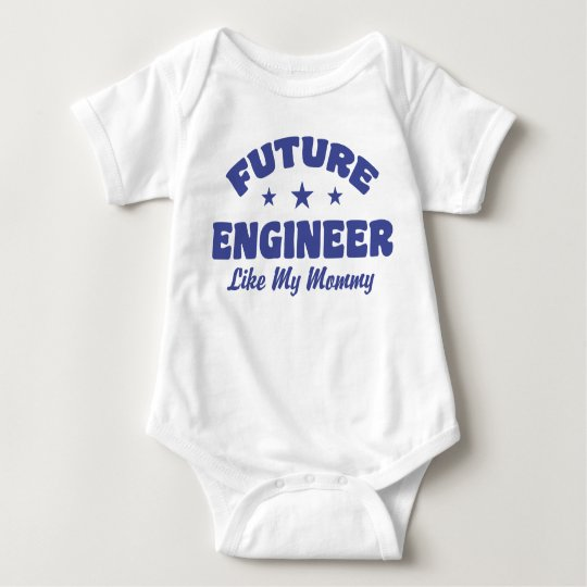 Future Engineer Like My Mummy Baby Bodysuit