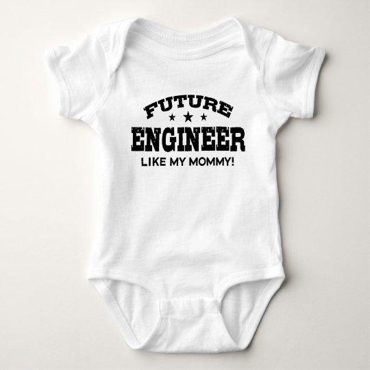 Future Engineer Like My Mummy Baby Bodysuit