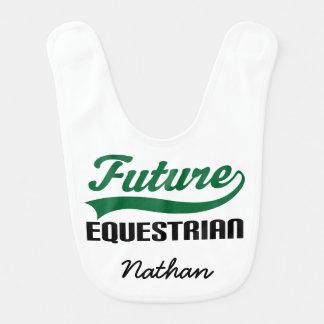 Future Equestrian Personalized Baby Bib