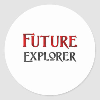 Future Explorer Round Sticker