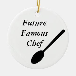 Future Famous Chef Round Ceramic Decoration