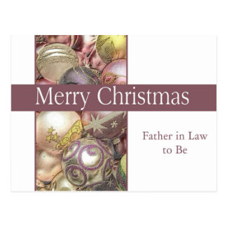 future father in law Merry Christmas card Postcard