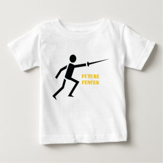 Future fencer black silhouette fencing custom baby T-Shirt