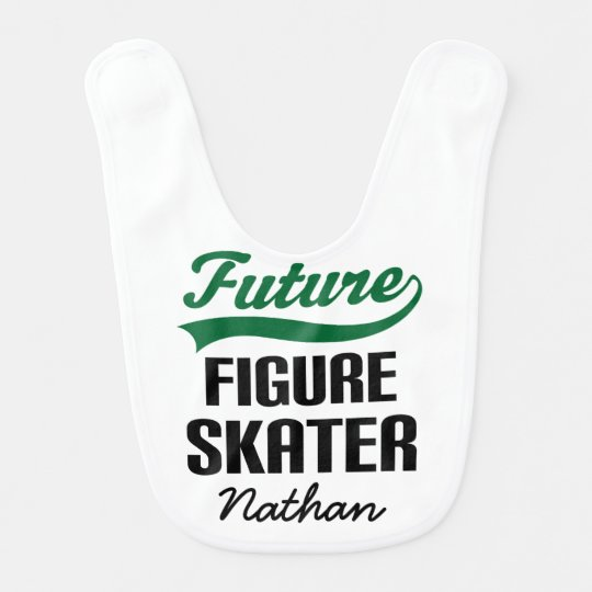 Future Figure Skater Personalised Baby Bib