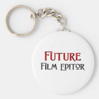 Future Film Editor Basic Round Button Key Ring