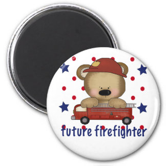 Future Firefighter 6 Cm Round Magnet