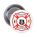Future Firefighter Baby Button