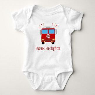 Future Firefighter | Fire Engine Baby Bodysuit