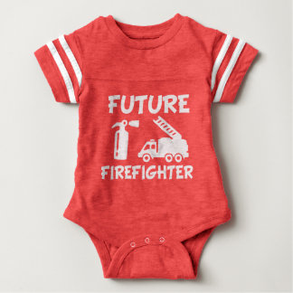 Future Firefighter funny baby bodysuit