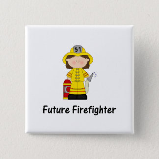 future firefighter (girl) 15 cm square badge