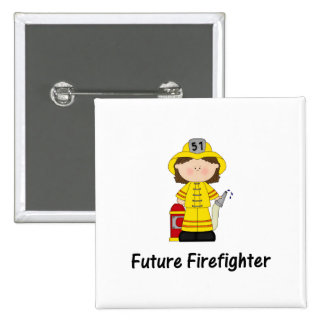future firefighter (girl) 15 cm square badge