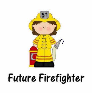 future firefighter (girl) standing photo sculpture