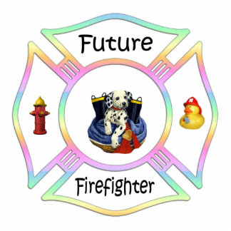 Future Firefighter Kids Photo Sculpture Decoration
