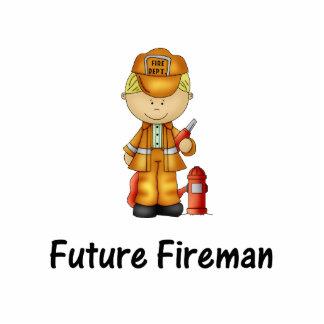 future fireman (2) standing photo sculpture
