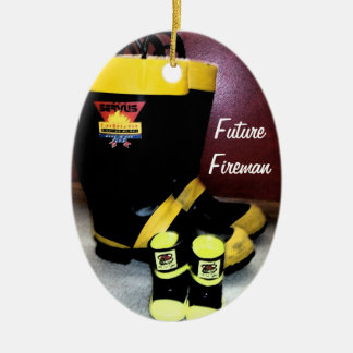 Future fireman christmas ornament