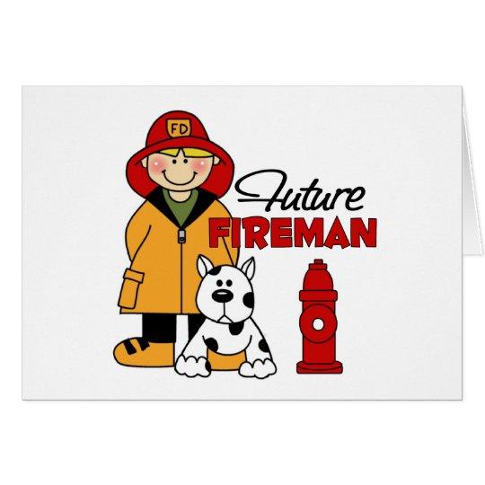 Future Fireman Firefighter Children's Gifts Card