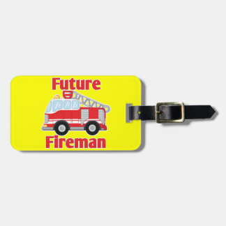 Future Fireman Luggage Tag