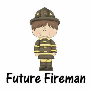 future fireman standing photo sculpture