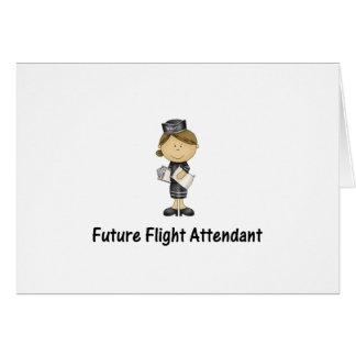 future flight attendant greeting cards