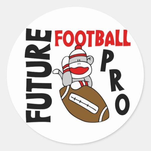 Future Football Pro Sock Monkey Round Sticker